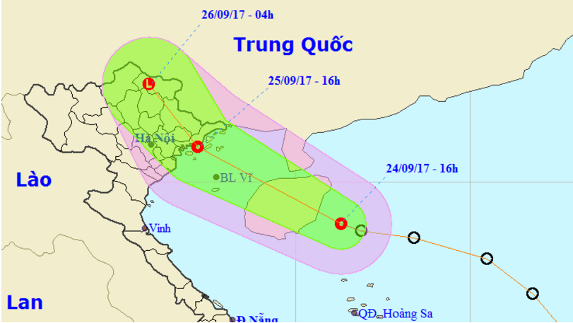 Tropical depression heads toward northern Vietnam