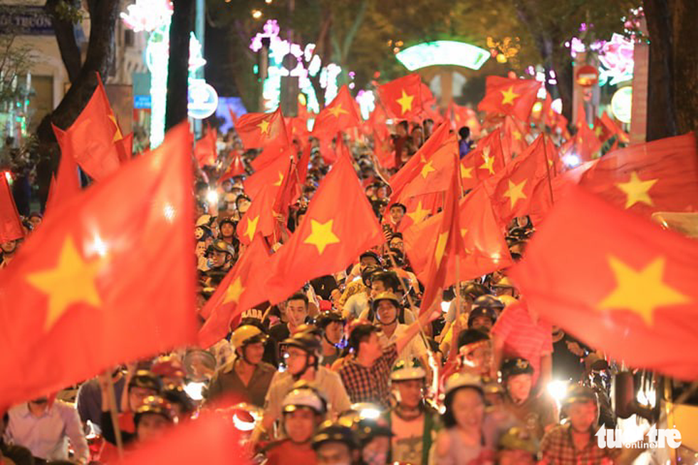 Vietnam's football fans take to the streets after Asian Cup final progress