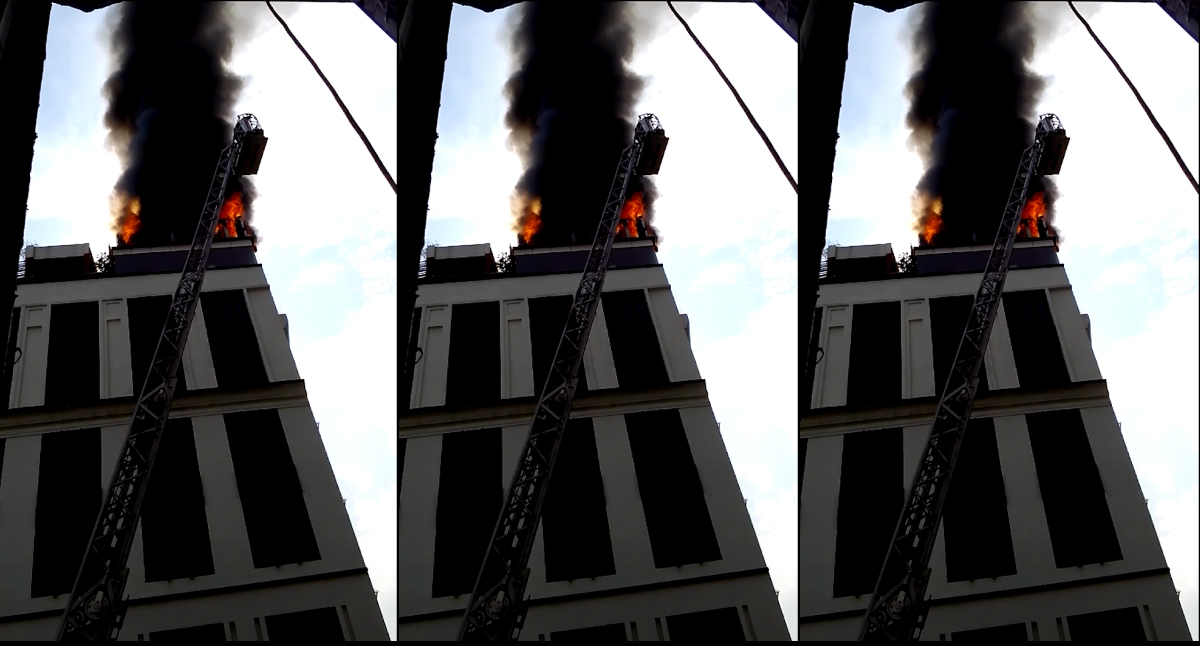 Fire at hotel in downtown Ho Chi Minh City
