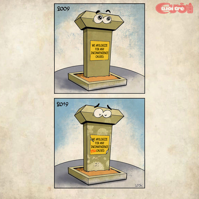 Cartoon: Ho Chi Minh City's first metro line joins '10-year challenge'
