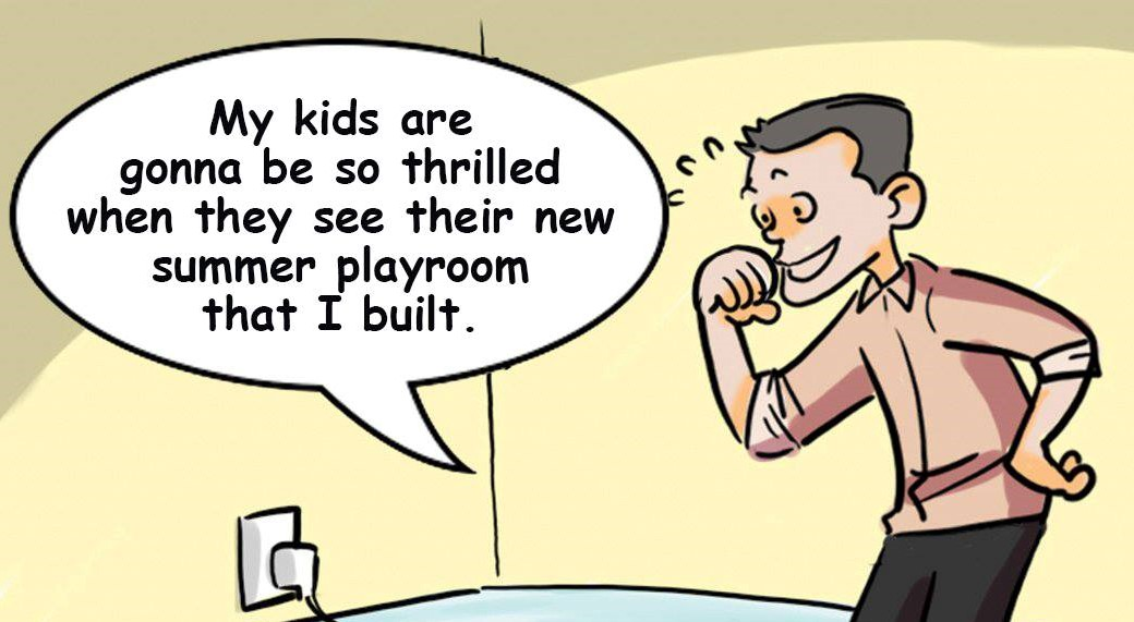 Cartoon: Plugged-in parenting