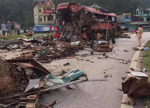 3 killed, nearly 40 injured in truck-bus collision in northern Vietnam
