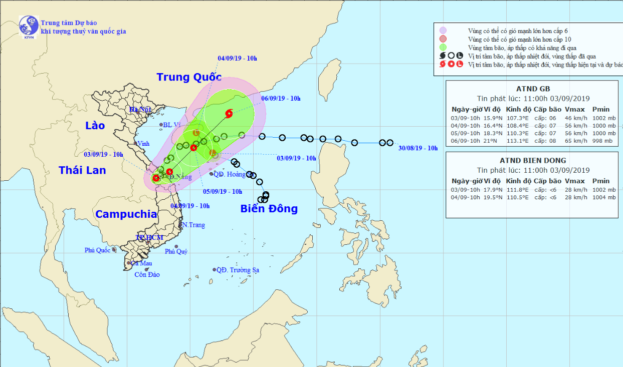 Torrential rain to lash central region as two tropical depressions hit Vietnam