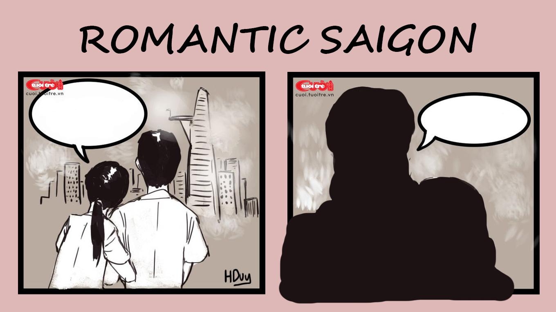 Cartoon: Saigonese find choking haze oddly romantic