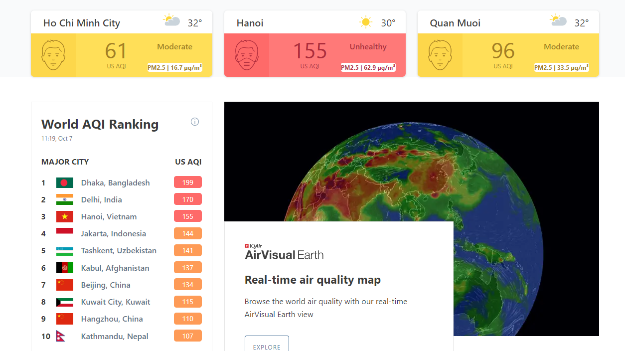 Air quality app AirVisual 'gone' from app stores in Vietnam amidst choking pollution