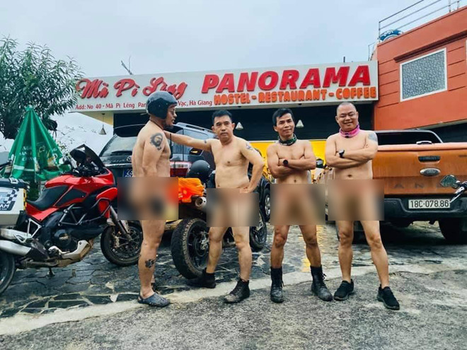 Vietnamese men spark outrage for driving naked over famous mountain pass