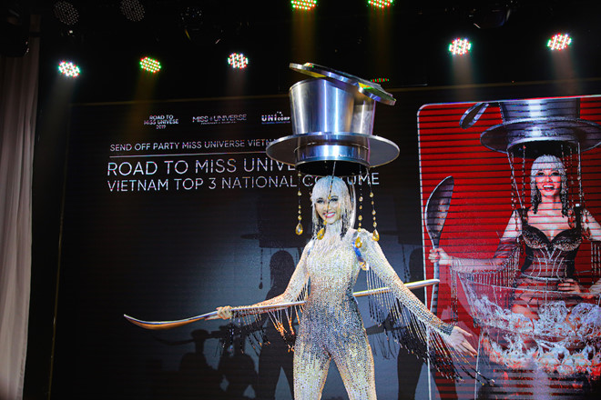 'Ca phe sua da dress' selected as Vietnam's national costume for Miss Universe 2019