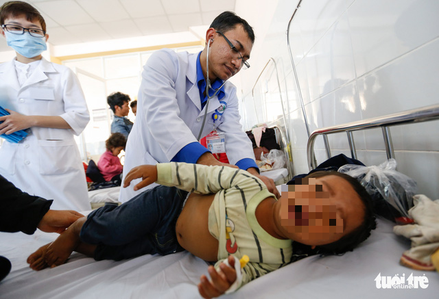 57 children among dozens hospitalized after eating donated food in Vietnam