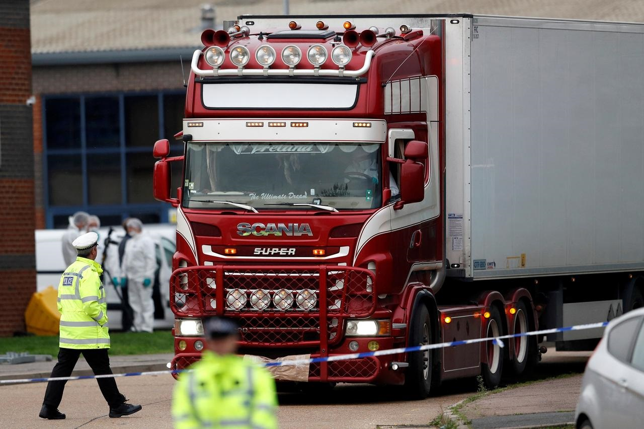 Man wanted in Britain over 39 lorry deaths 'organized' trafficking