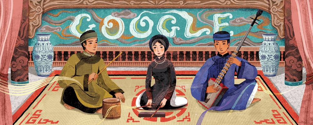 Vietnam's ceremonial singing 'ca tru' honored by Google Doodle