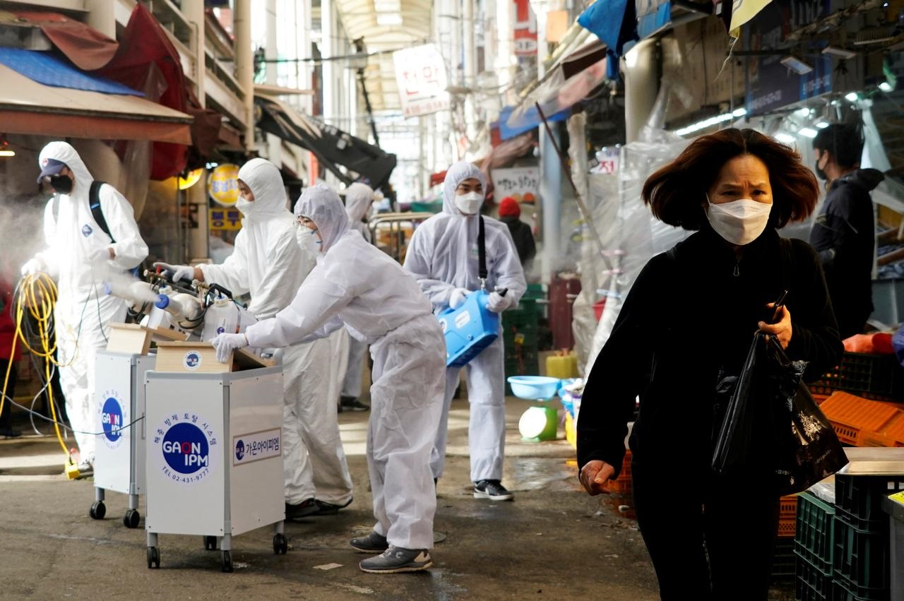 South Korea reports 169 new coronavirus cases, including first U.S. soldier