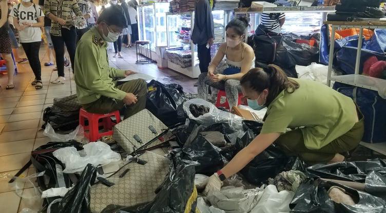 Fake luxury goods seized from Saigon's iconic Ben Thanh Market