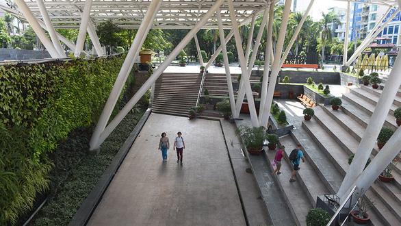 An underground urban space at the 23/9 Park in District 1, Ho Chi Minh City, Vietnam. Photo: Le Phan / Tuoi Tre