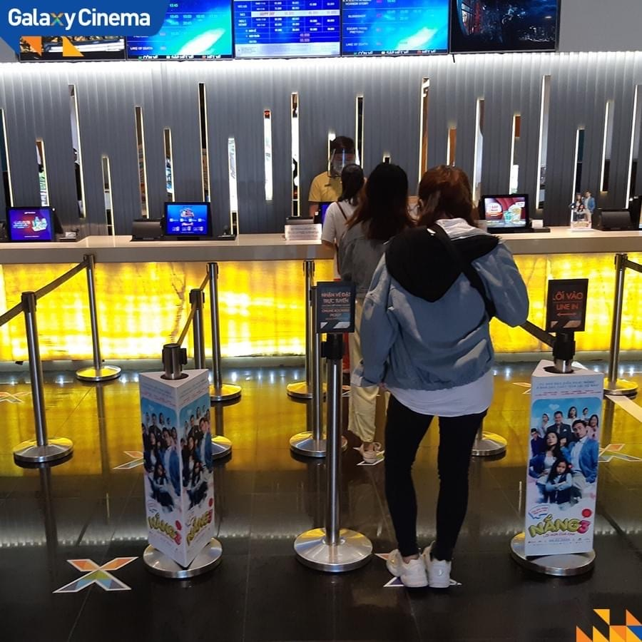 <em>People queue to buy movie tickets at a Galaxy Cinema theater in Ho Chi Minh City, Vietnam in this photo posted to the cinema chain's verified Facebook page.</em>
