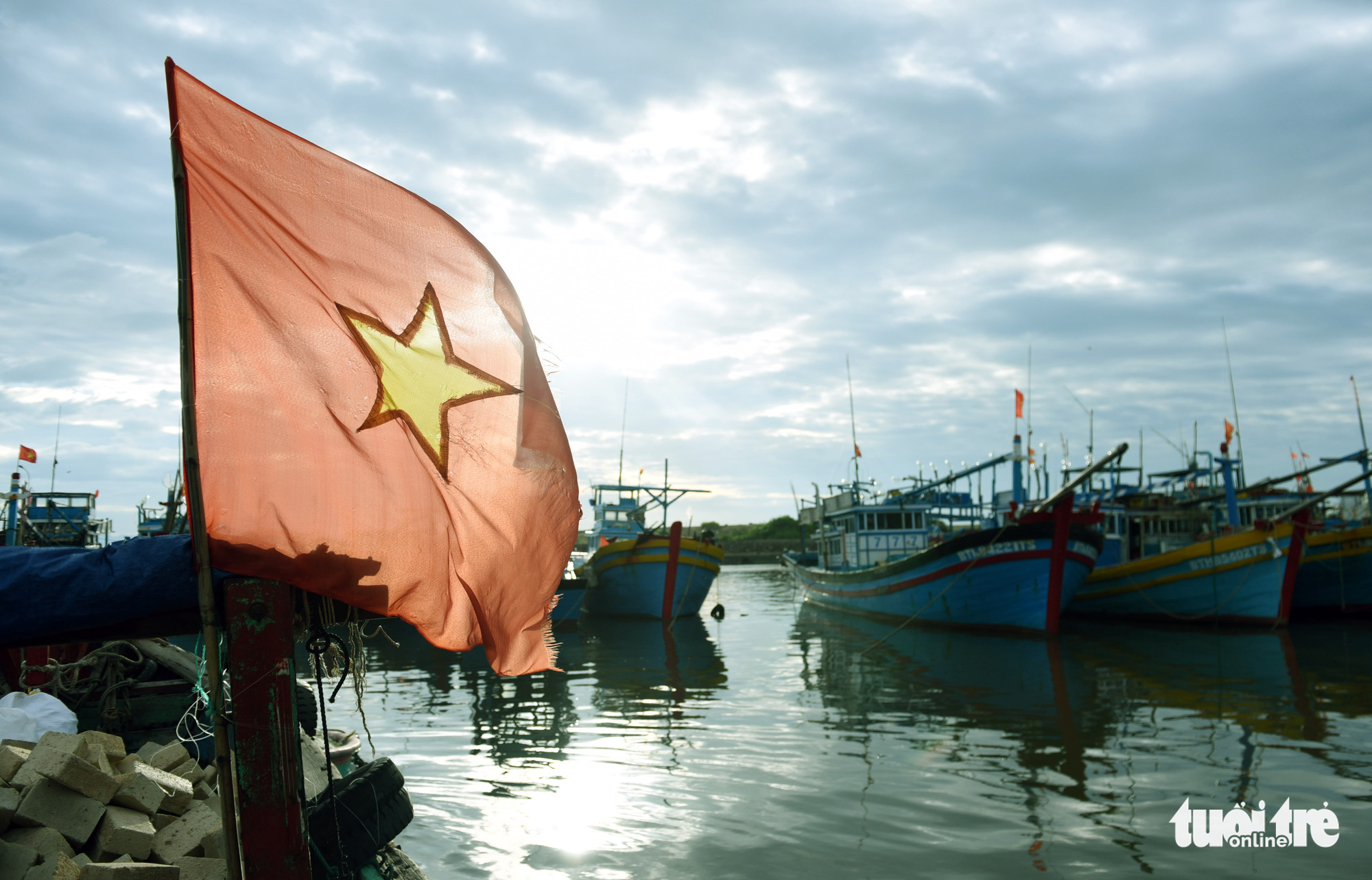 Fishing vessels are docked at a port in Vietnam's Binh Thuan Province. Photo: Duyen Phan / Tuoi Tre