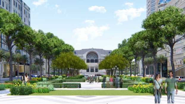 A perspective drawing of the new Lam Son Park supplied by the Ho Chi Minh City Department of Planning and Architecture.