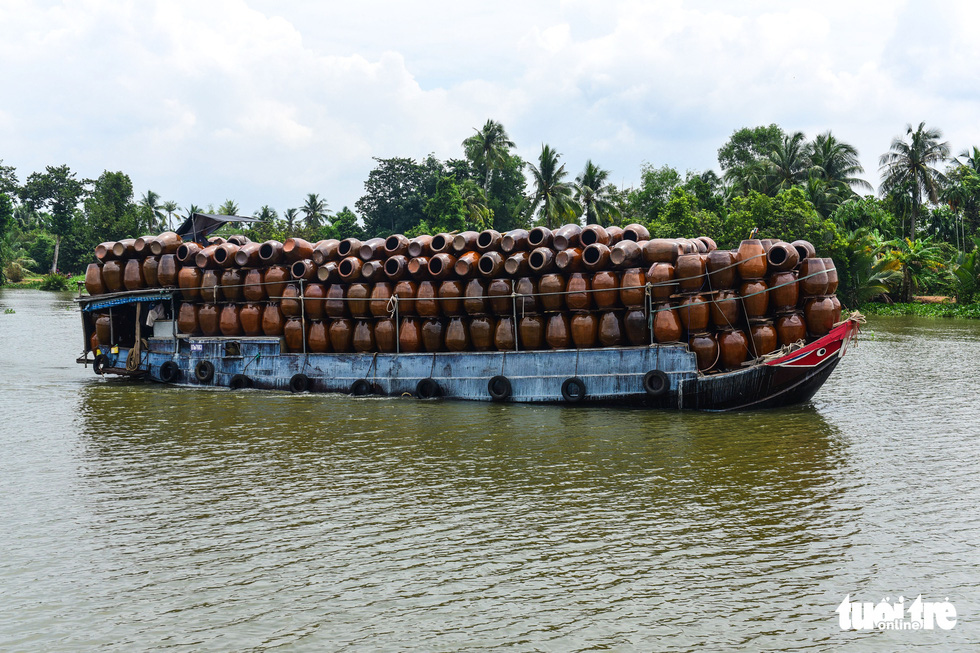 A boat carrying vases is pictured on a section of the Saigon River in southern Vietnam in this undated file photo. Photo: Quang Dinh / Tuoi Tre