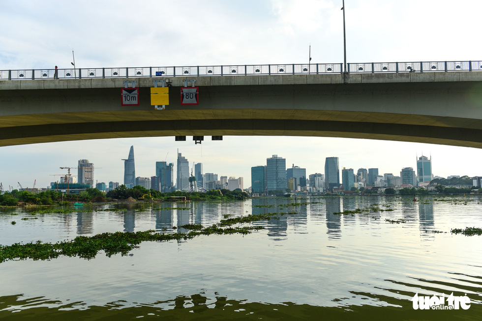 The downtown area of Ho Chi Minh City is seen from a boat traveling on the Saigon River in this undated file photo. Photo: Quang Dinh / Tuoi Tre