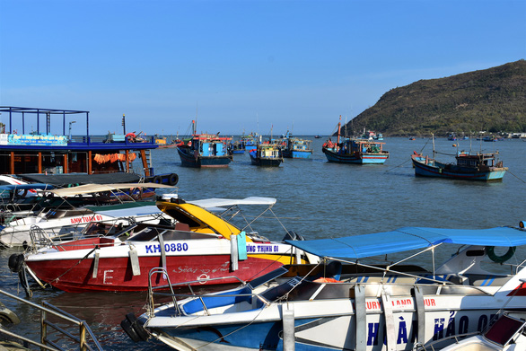 Tourist and fishing boats are anchored at the new Nha Trang tourist pier in this undated photo. Photo: Minh Chien / Tuoi Tre