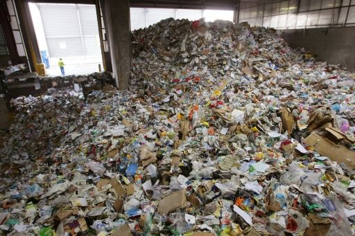 Even if plastic is properly thrown away most of it is still not recycled. Photo: AFP