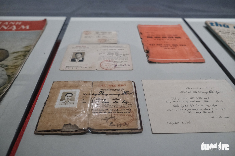 Exhibits reflecting significant events in Vietnam's press history are on display at the Vietnam Press Museum in Hanoi in this undated photo. Photo: Song La / Tuoi Tre