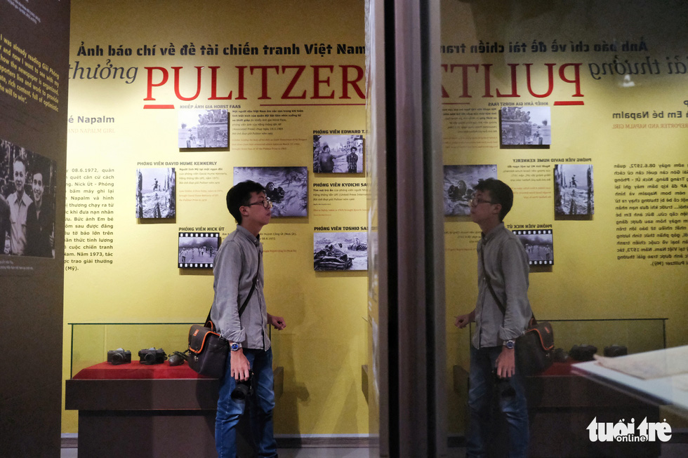 A guest tours the Vietnam Press Museum in Hanoi before its public inauguration in this undated photo. Photo: Song La / Tuoi Tre
