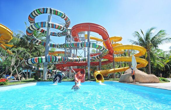 This supplied illustration photo shows a water park ride.