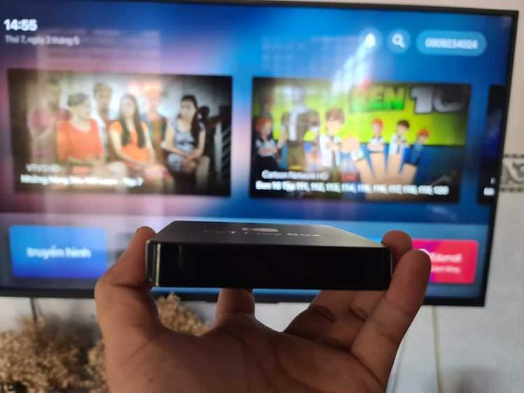 An OTT set-top box is seen in this file photo. Photo: Ly Thanh / Tuoi Tre