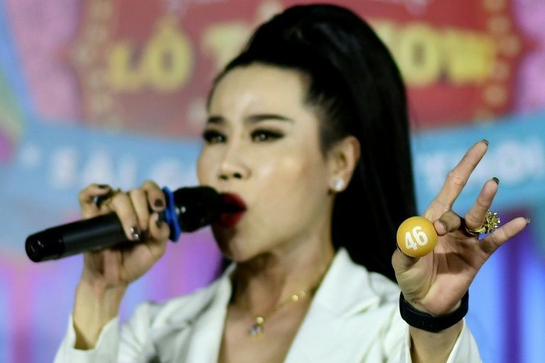 La Kim Quyen has been performing with lotto troupes in Vietnam since she was a teenager. Photo: AFP