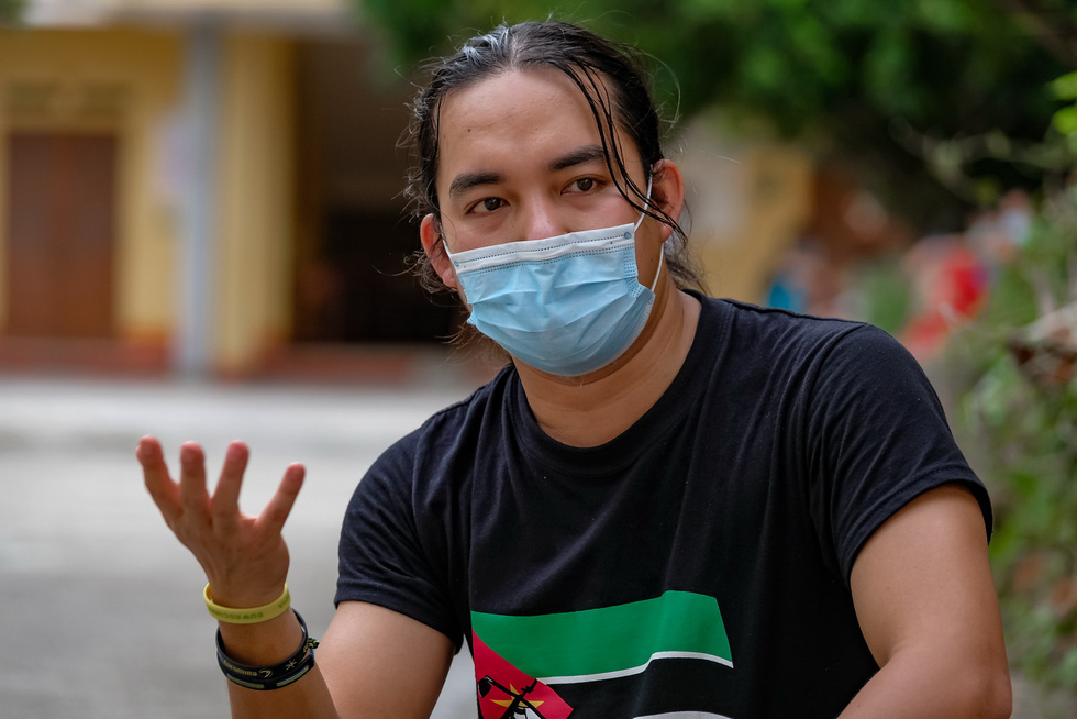 Tran Dang Dang Khoa at the quarantine zone in the northern province of Hung Yen on June 17, 20202. Photo: Nam Tran/ Tuoi Tre