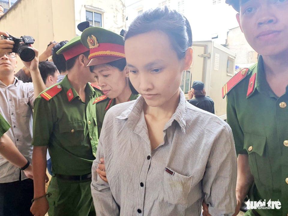 Le Ngoc Phuong Thao is pictured at the People's Court in Binh Duong Province, Vietnam, July 3, 2020. Photo: Ba Son / Tuoi Tre