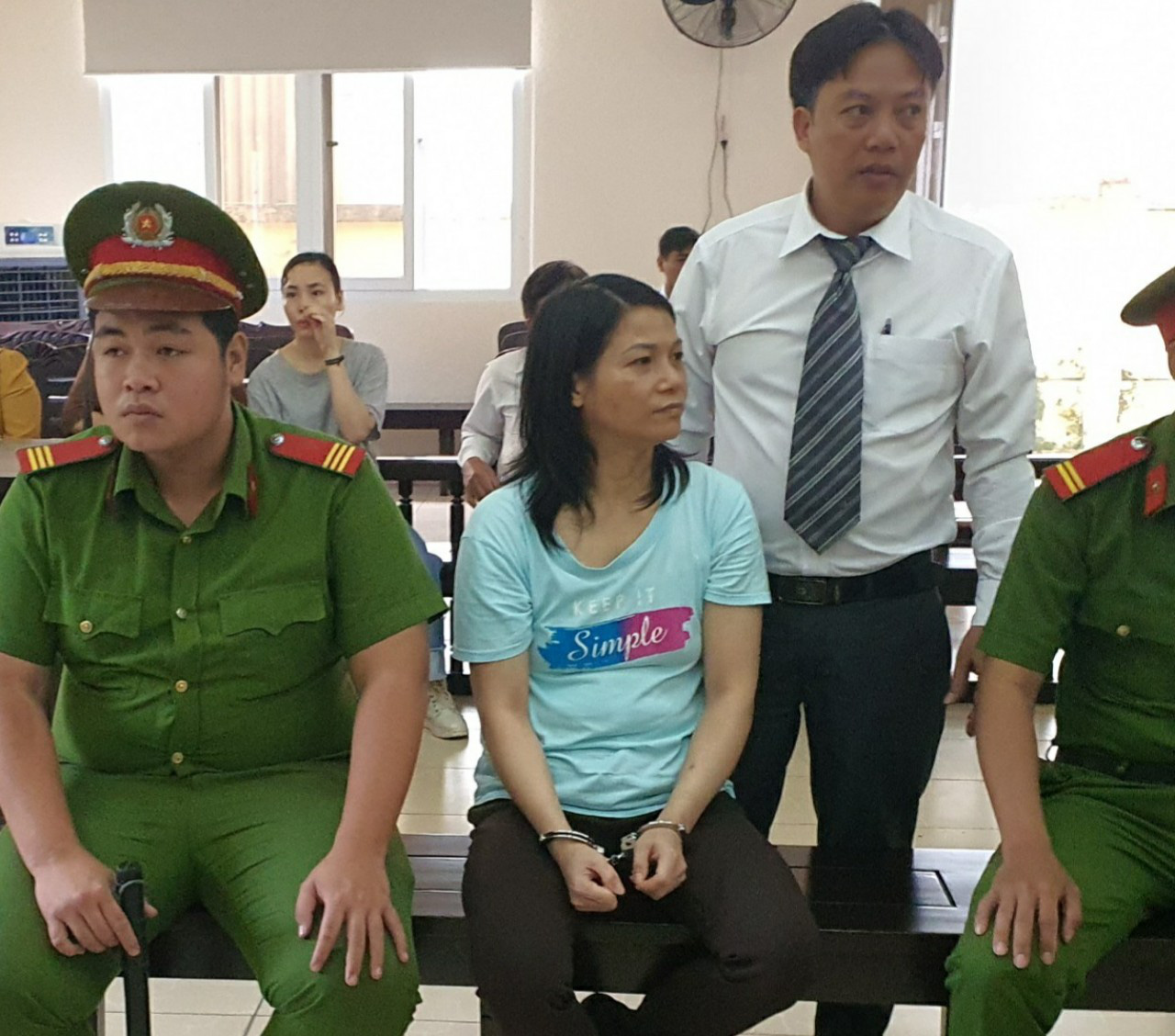 Nguyen Ngoc Tam Huyen is pictured at the People's Court in Binh Duong Province, Vietnam, June 26, 2020. Photo: Ba Son / Tuoi Tre