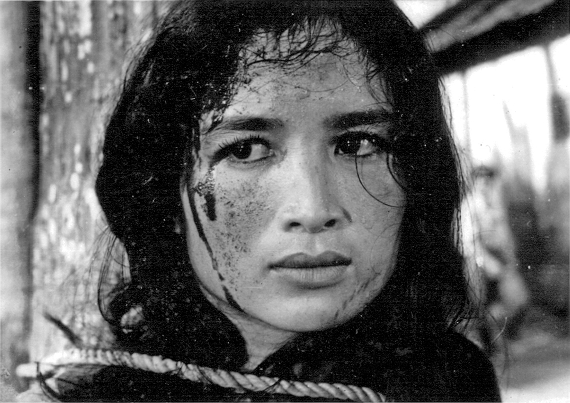 Actress Tra Giang is captured in a file photo on the set of Hai Ninh's '17th Parallel, Nights and Days' (1973)