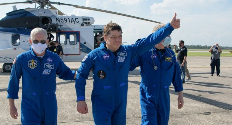 'Like an animal': NASA astronauts describe noisy, jolting descent
