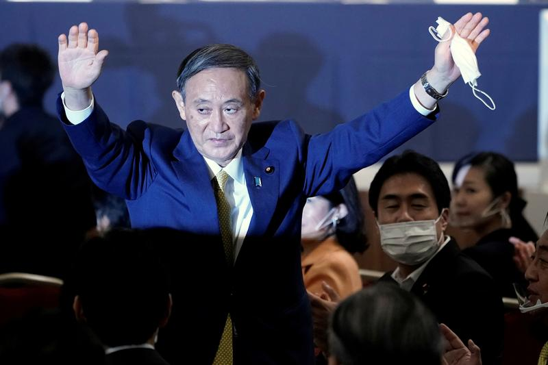 Japan's Suga to formally take up PM job, announce cabinet