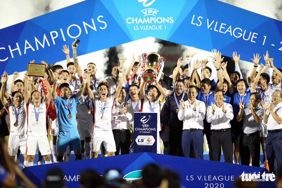 Military-owned club crowned champions of Vietnam football league