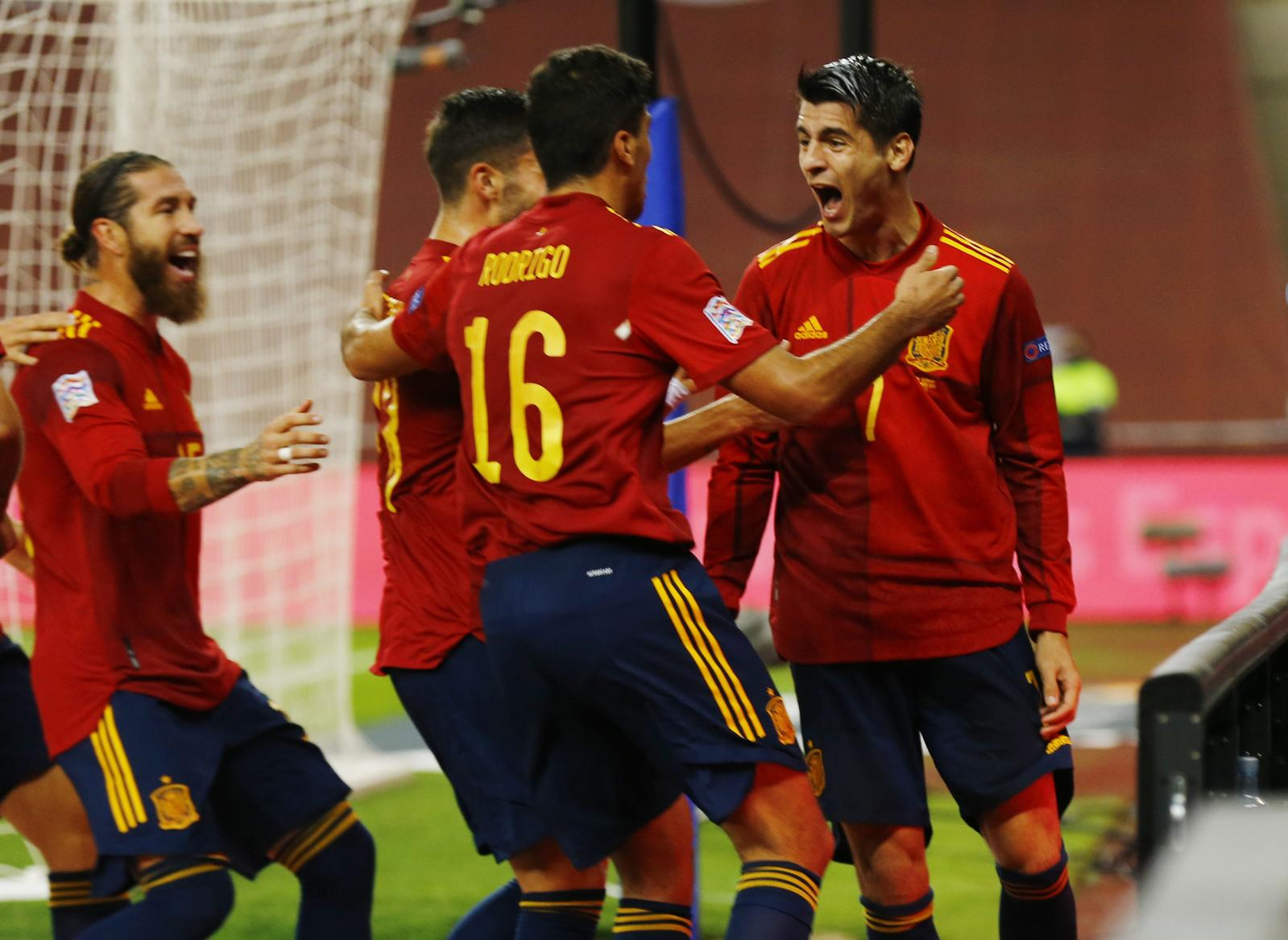 Spain hammer Germany 6-0 to reach Nations League final four