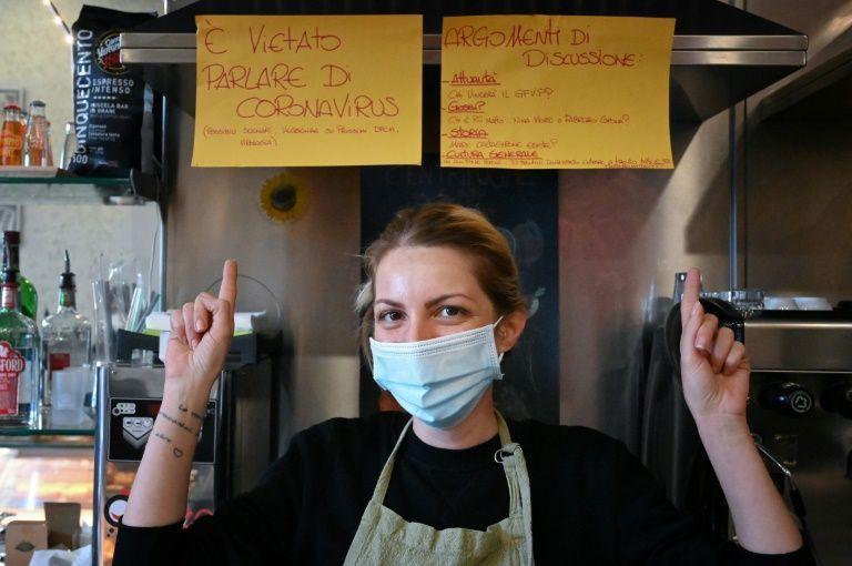 Rome bar bans virus talk