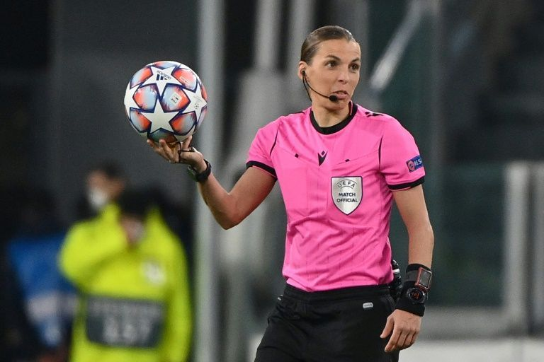 Frappart makes refereeing history as Juve beat Dynamo Kiev in Champions League