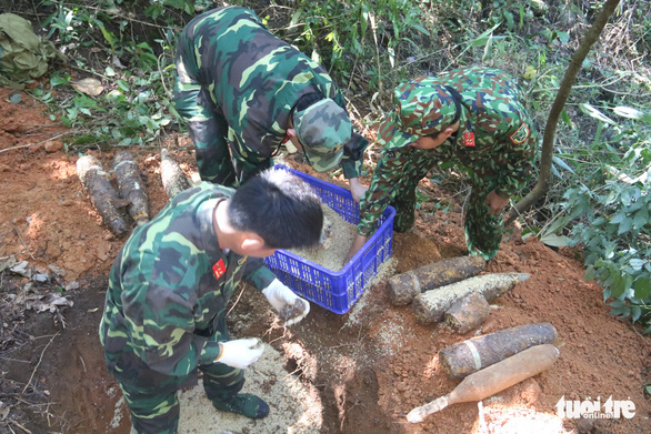 Two tons of unexploded ordnance detected in Vietnam