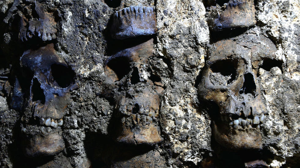 Mexico's 'tower of skulls' yields more ancient remain