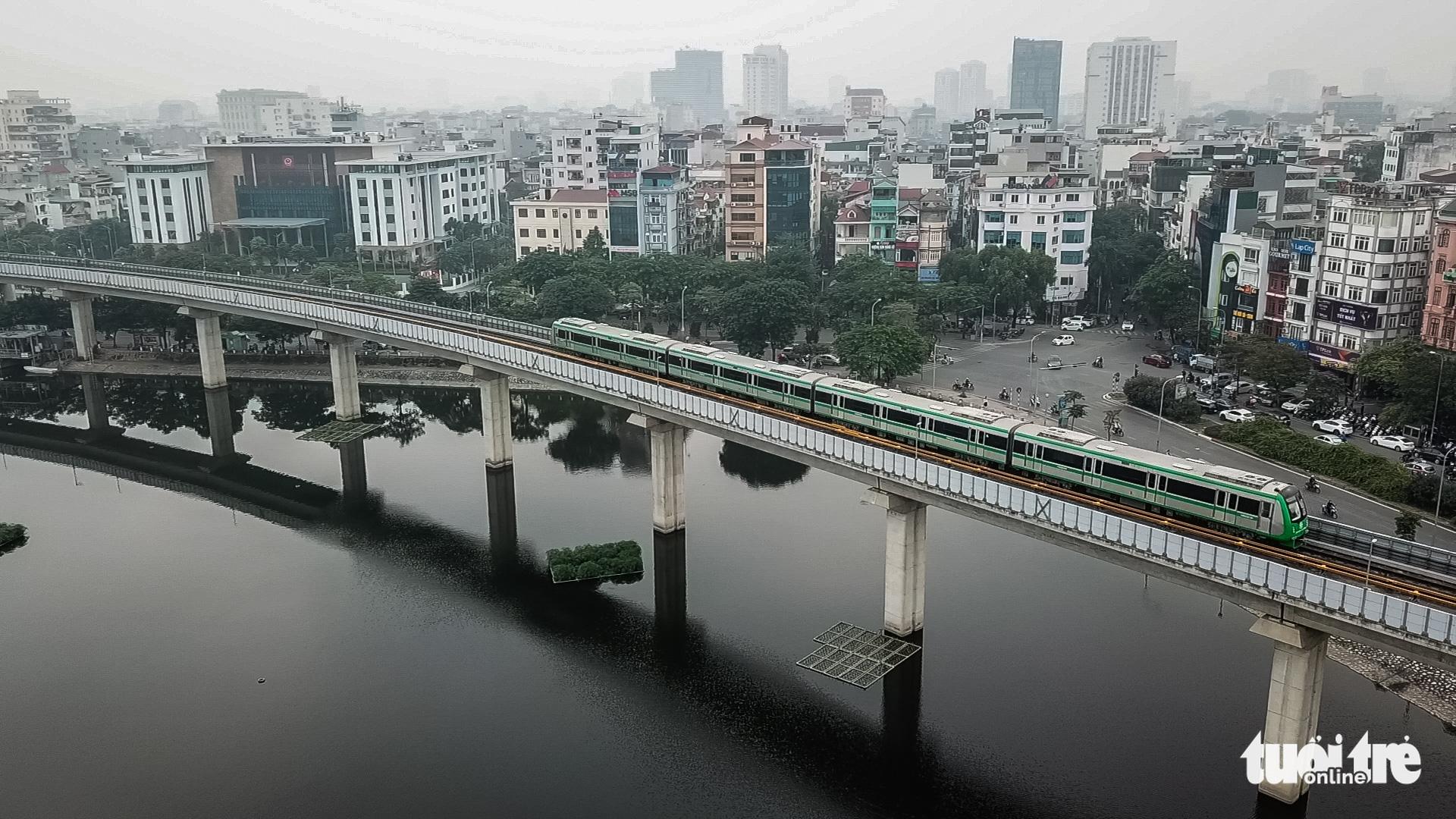 Hanoi's Cat Linh-Ha Dong urban rail line begins test run