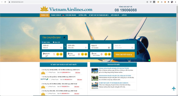 Vietnam Airlines alerts customers to counterfeit booking websites