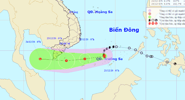 Storm Krovanh brings turbulent seas to southern Vietnam