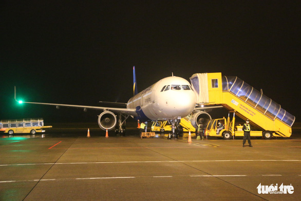 Vietravel Airlines' plane lands at headquarter airport for first time