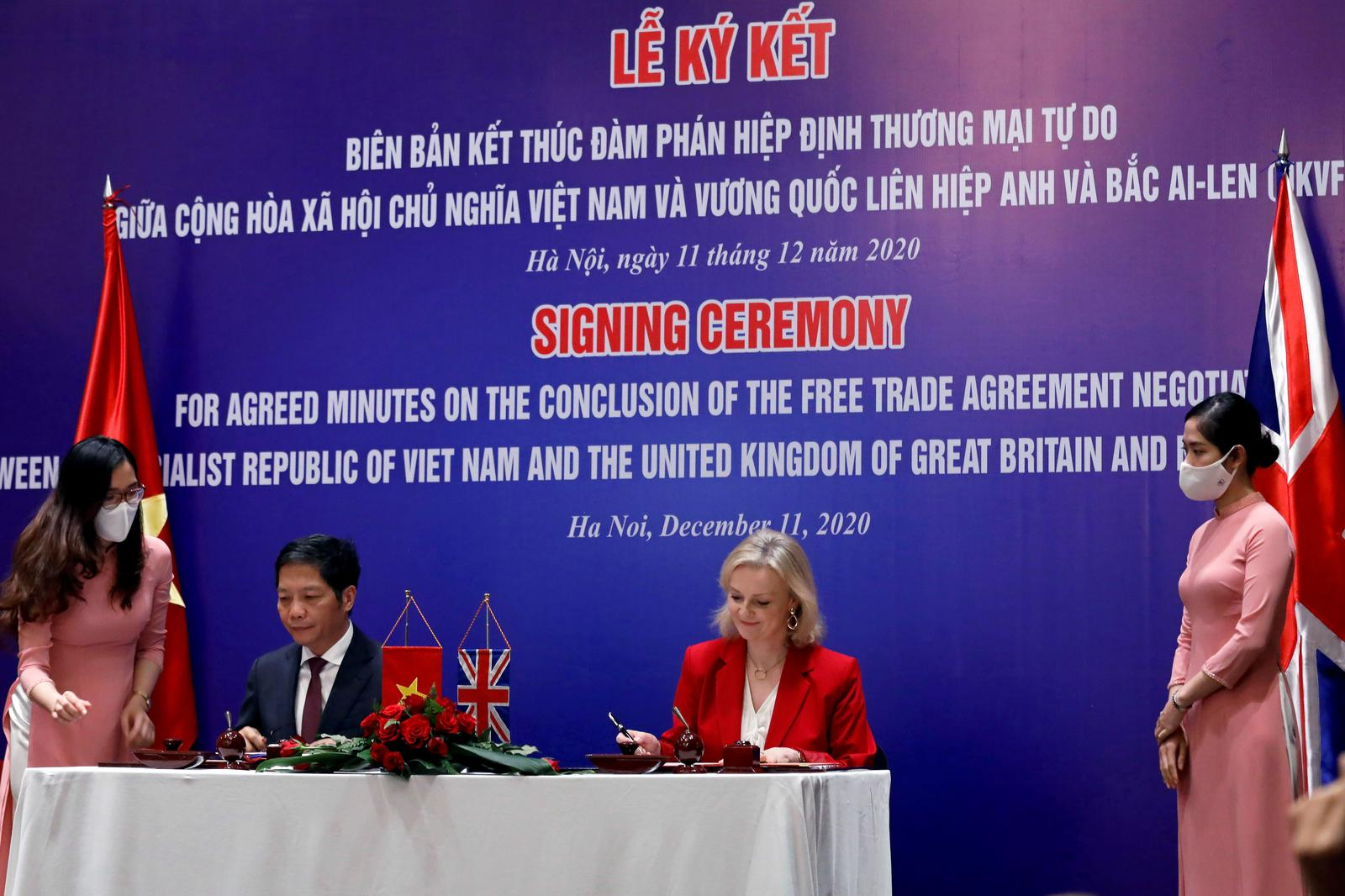 Vietnam, Britain sign free trade deal, to take effect Dec. 31