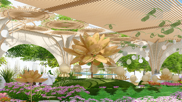 An artist's impression of the 2021 Nguyen Hue Flower Street