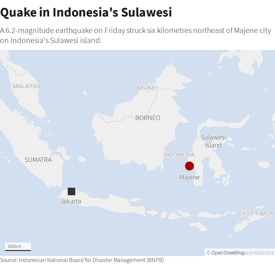 Graphic: Quake in Indonesia's Sulawesi