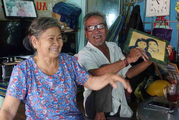 Nguyen The Ngoc, or Teo, and his long-time wife in their 'love nest', built nearly 50 years ago in Binh Chanh District, located in Ho Chi Minh City, Vietnam. Photo: Hoang Tung / Tuoi Tre