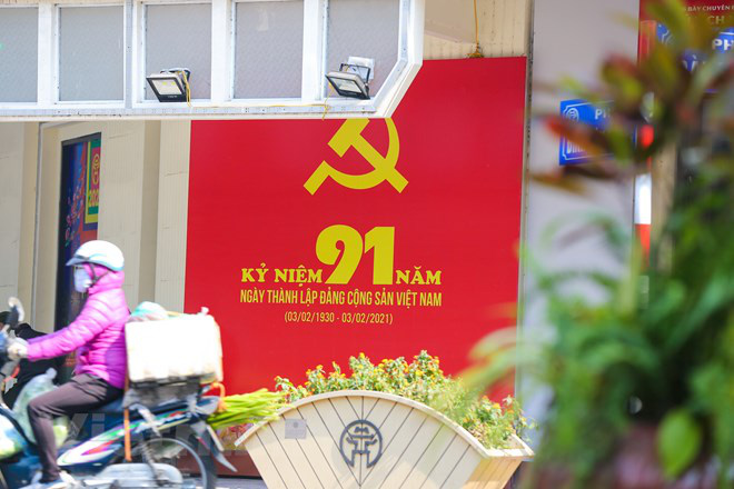 A banner marking the 1st founding anniversary of the Communist Party of Vietnam in Hanoi. Photo: Vietnam News Agency